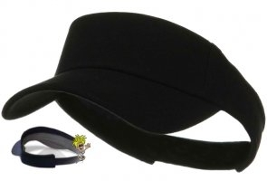 Black Referee Sun Visor