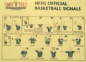 NFHS Basketball Signal Card