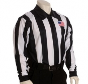 "Long Sleeve 2 1/4"" Striped Sublimated Referee Shirt"