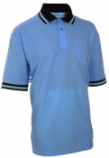 Baseball Carolina Blue W/ Black Trim Umpire Shirts