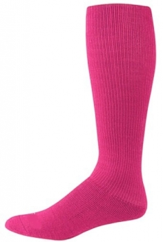 Hot Pink Tube Style Socks