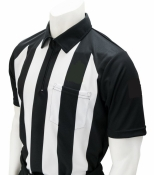 "Short Sleeve 2 1/4"" Striped Sublimated Shirt W/ Solid Black Sleeves & Side Panels"