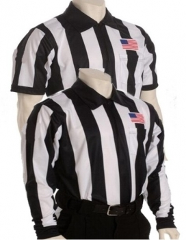 "Sublimated 2 1/4"" Striped Long & Short Sleeve Football Referee Shirts"