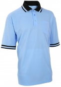 Baseball Powder Blue W/ Black Trim Umpire Shirts