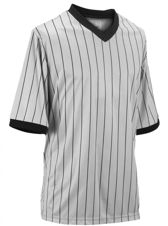 Well-known Grey Pinstripe Basketball Referee Shirt, Gray Pinstripe Basketball  EV48