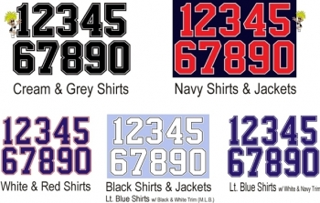 Tackle Twill Numbers