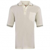 Adams USA Cream Umpire Polo Shirt