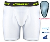 Compression Boxer Shorts With Cup
