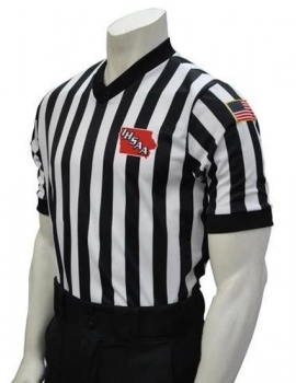 "IHSAA ""Body Flex"" V-Neck Referee Shirt"