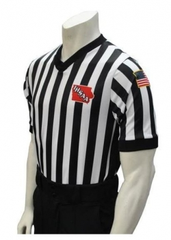 "IHSAA ""Body Flex"" Referee Shirt W/ 3"" Black Side Panels"
