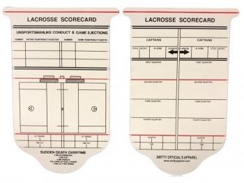 Lacrosse Referee Reusable Game Card