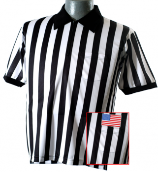 Lacrosse Referee Shirt With American Flag
