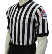 "MSHSAA ""Body Flex"" Basketball Referee Shirt W/ 3"" Black Side Panels"