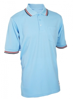 Baseball Powder Blue W/ Red & Navy Trim Umpire Shirts