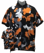 Black & Orange Camo Umpire Shirt