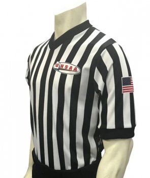"UHSAA ""Body Flex"" V-Neck Basketball Referee Shirt"