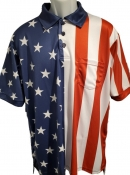 American Flag Umpire Polo Shirts
