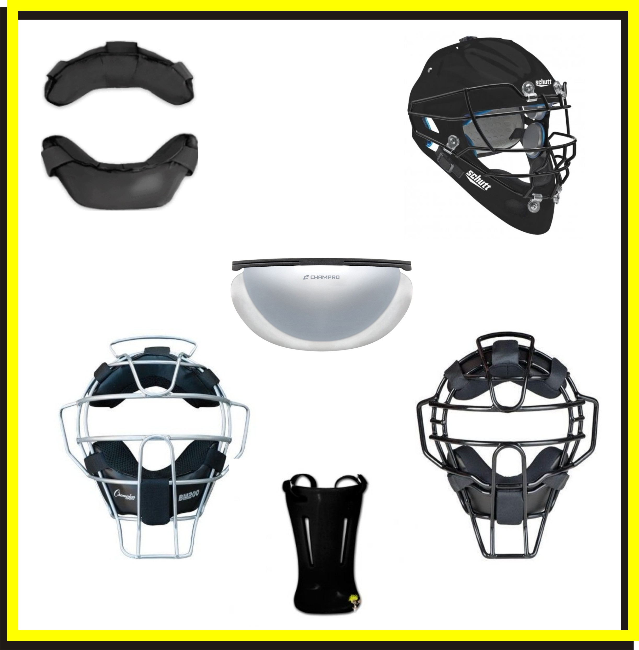Baseball Umpire Face Masks & Accessories